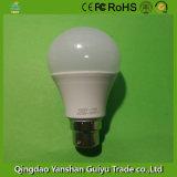 B22 Lâmpada LED de 7 W de Base com corpo de plástico e alumínio