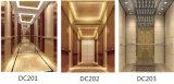 De cabine rangschikt Lift van de Deur van de Regelbare en Muur van de Auto de Landende van het Roestvrij staal van de Deur GF Hairline en