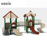 プラスチックスライドのタイププラスチック振動およびスライドの子供の屋外の運動場