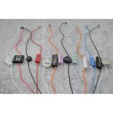 Bujão de dupla fita personalizada de strings de Preto Hangtag