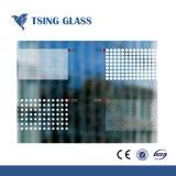 Pantalla de seda vidrio templado con bordes de los agujeros del logotipo