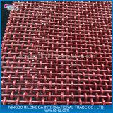 Engranzamento de fio frisado da tela da cor vermelha para exportar