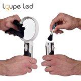 Lupe Loupe à LED avec lumière 3 lentilles interchangeables Loupe 2.5X 5X 16X