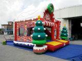 Château plein d'entrain gonflable de nouveau Noël de l'arrivée 2016 pour des enfants