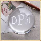 Paperweight a cristallo trasparente dell'arco - marchio libero dell'incisione