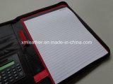 Unità di elaborazione Leather Presentation Folder di stampa con Zip Closure
