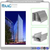 Un profilo di alluminio dei 120 sistemi che lustra la parete divisoria di vetro messa di PVDF LED