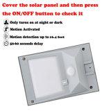 Luces de seguridad de energía solar para Patio porche cubierta impermeable de color blanco cálido