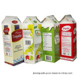 우유를 위한 판지 상자 또는 크림 또는 포도주 또는 물