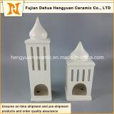 Camera di ceramica del supporto di candela di figura di palazzo multipiano di alta qualità