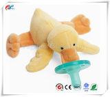 赤ん坊の黄色いアヒルの赤ん坊のための柔らかい幼児調停者のプラシ天