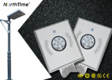 Lâmpada de rua solar do diodo emissor de luz da iluminação ao ar livre completa quente da venda 8W