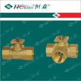 Válvula de esfera motorizada/válvula de esfera motorizada bronze com atuador