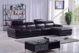 Sofá secional do sofá de couro moderno com L forma