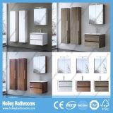 現代浴室の虚栄心は2個の洗面器および側面のキャビネット(BF126N)によってセットした