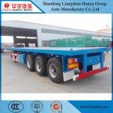3 Aanhangwagen van het Vervoer van de Container van de as 40FT Flatbed Semi met de Opschorting van de Lucht