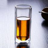 Vetro di acqua di vetro di vetro del succo di frutta della tazza di caffè della spremuta della radura di vetro doppia della tazza