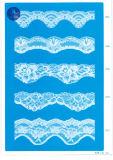 Trikot-Spitze für Kleidung/Kleid/Schuhe/Beutel/Rechtssache 3169 (Breite: 7cm)