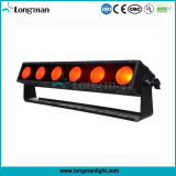 6PCS 25W Rgbaw 5in1 Pixel Luz barras de LED para plantas