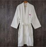 100% algodão Terry Hotel roupão de banho com logotipo bordados
