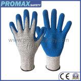 Hppe anti coupe et le latex enduits résistants aux coupures des gants de travail