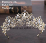 2018の最も新しいカスタマイズされた水晶王冠の結婚式のガラスStonneのクリスマスのギフトのティアラの花嫁の王冠(BC-07)
