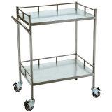 304# Instrumento de Aço Inoxidável carrinho médico