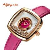De nieuwe Horloges van de Manier van de Wijzerplaat van het Ontwerp Marmeren voor Dames met Diamant