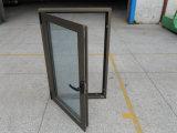 주문을 받아서 만들어진 이중 유리를 끼우는 알루미늄 여닫이 창 Windows
