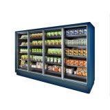 Comercial de color negro clásico de la puerta de vidrio de la Plataforma Multi refrigerador