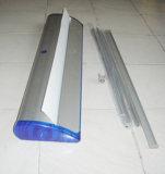 Stand en aluminium élevé de drapeau de roulis de cas de corps de Quanlity