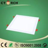 Ce/RoHSの極めて薄い9W正方形の隠されたLEDの照明灯