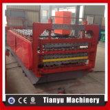 Die drei Schicht-Farben-walzen Stahldach-Fliese die Formung der Maschine kalt