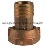 Sans plomb Bronze accouplements de compteurs d'eau