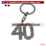 Cadeau d'anniversaire de porte-clés de boucle principale de trousseau de clés de cadeaux de vacances cinquantième (G8005)
