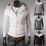 厚の冬の暖かい白人の綿の人ジャケットかコート