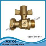 Válvula de cobre amarillo del contador del agua (V18-815)