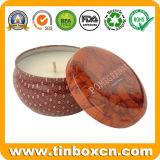 Круглая жестяная коробка свечки, ежедневное олово, коробка свечки, олово перемещения