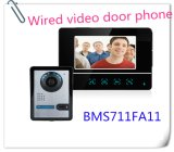 7 pouces écran tactile LCD couleur TFT de vidéo téléphone Sonnette de porte