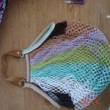 Saco de mantimento reusável, saco líquido do algodão do Drawstring do engranzamento