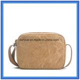 La fábrica hace nuevo Du Pont material el bolso de papel del mensajero, bolso de hombro de papel de las compras de Tyvek de la promoción respetuosa del medio ambiente con la correa ajustable de nylon