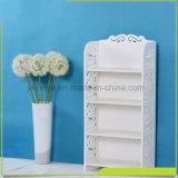 Livre blanc de quatre couches petite étagère, similaires au matériel de bois étagère en plastique