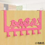 Sobre a cremalheira do gancho da porta 6 - suporte decorativo do gancho do metal para o uso do escritório Home