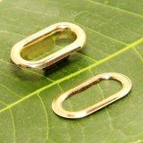 衣服アイレットの軽い金の金属の楕円形のグロメットをよじ登りなさい