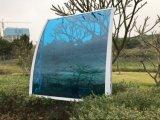 De PC transparente folha sólida chuva porta dianteira do braço de plástico da tampa de capota