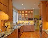 Maple цельной древесины кофе остекления кухонным шкафом