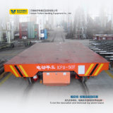 Carrinho de transferência de plataforma motorizada montado em trilhos