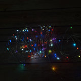 RGB Multi Color USB Powered Copper Wire LED Luzes de corda para quarto Patio Jardim Natal