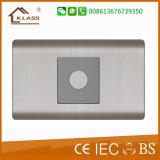Aufgetragener Edelstahl-energiesparender Noten-Verzögerungs-Wand-Schalter