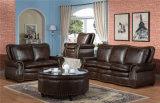 Sofá moderno do Recliner com jogo do sofá do couro genuíno